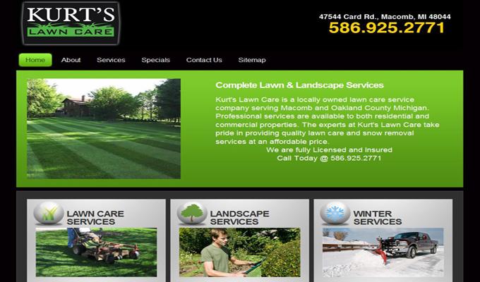 lawn care website designs