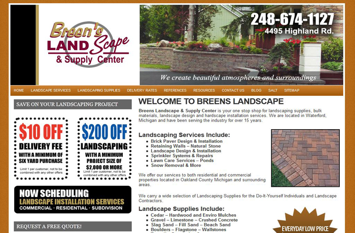 SEO Services for Landscape Supply Company Waterford MI