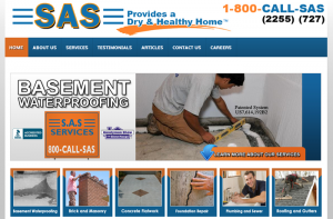 SAS Basement Waterproofing