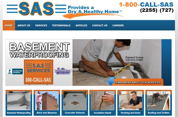 Web Design for Basement Waterproofing Contractor MI