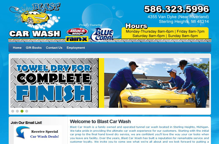Web Design for Car Wash MI