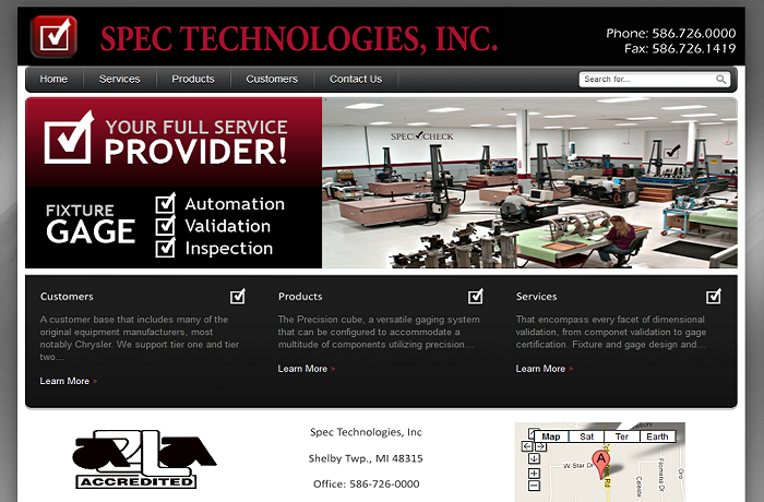 Website design industrial company web designs shelby twp mi for Industrial design sites