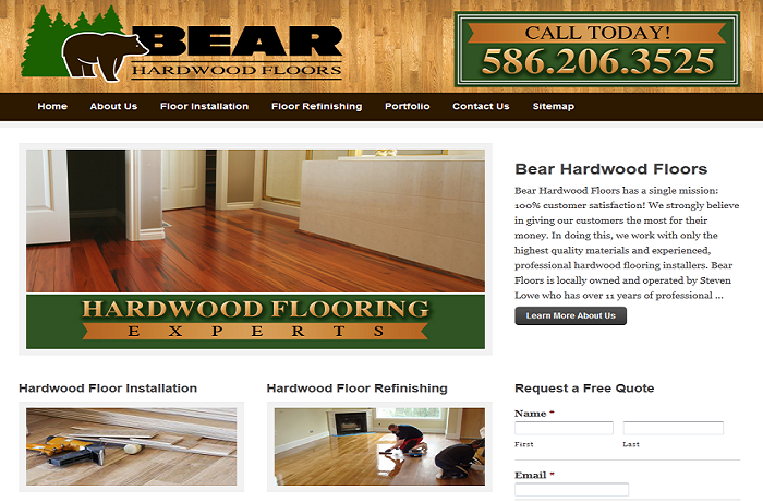 Website Design Hardwood Floor Contractor MI