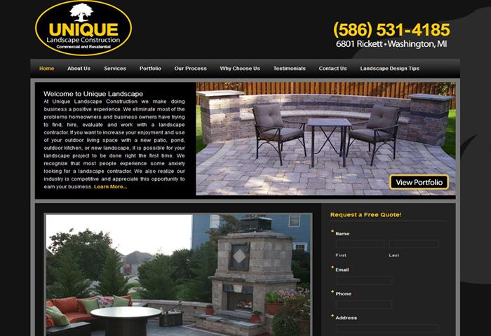 Landscape Contractor Website Marketing MI