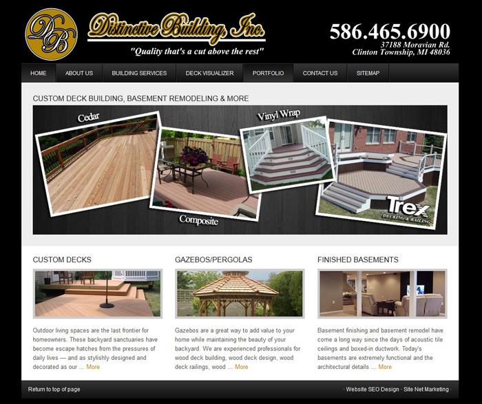 SEO Website Design for Contractor MI