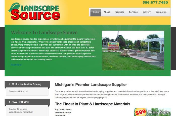 Website SEO Design for Landscape Supplier Macomb MI