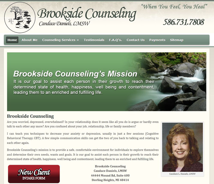 Website for Marriage Counselor MI