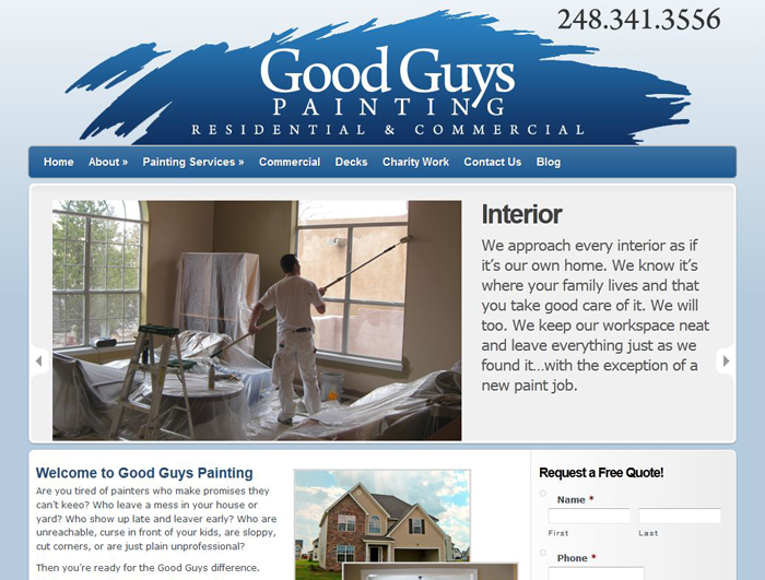 Websites For Painting Contractors Seo Web Marketing