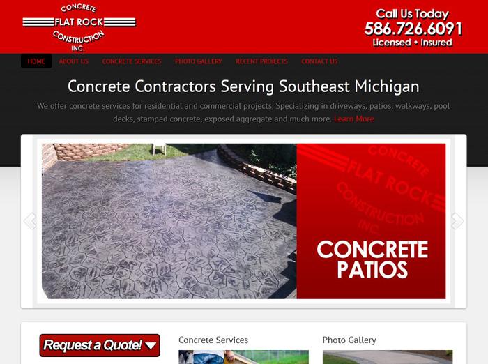Concrete Contractors Web Site Marketing MI