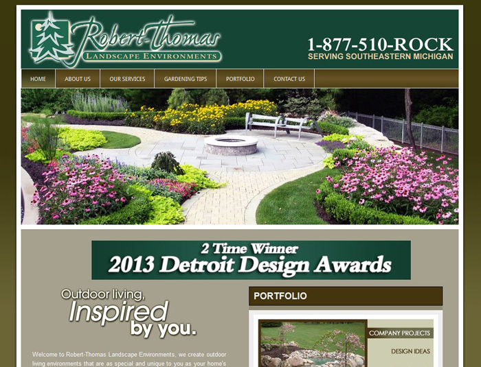 Seo website design for landscaping company in auburn hills mi for Landscape design group